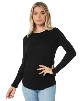 BLACK WOMENS CLOTHING SILENT THEORY TEES - 6008001BLK