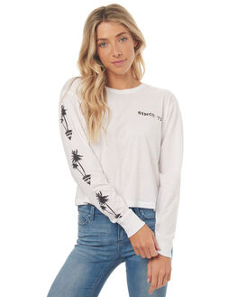 WHITE WOMENS CLOTHING BILLABONG TEES - 6572072WHT