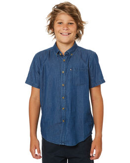 CHAMBRAY KIDS BOYS ACADEMY BRAND TOPS - B19S869CHAM
