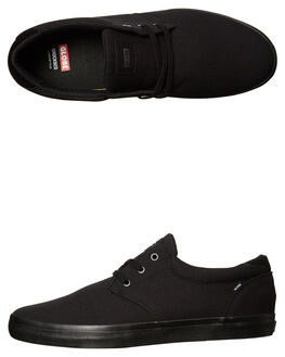 BLACK BLACK MENS FOOTWEAR GLOBE SKATE SHOES - GBWILLOW-10757
