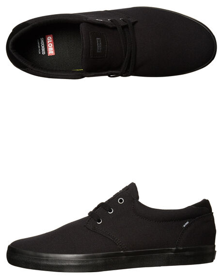 BLACK BLACK MENS FOOTWEAR GLOBE SKATE SHOES - GBWILLOW-10757