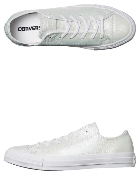 0a9a1904a45484 IRIDESCENT WHITE WOMENS FOOTWEAR CONVERSE SNEAKERS - 558009WHT