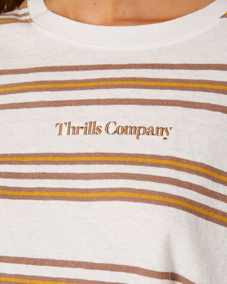 DIRTY WHITE WOMENS CLOTHING THRILLS TEES - WTS9-122AWHI