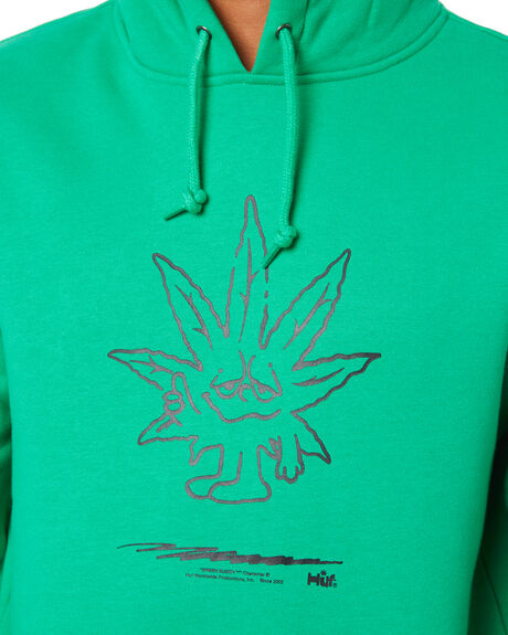 GREEN MENS CLOTHING HUF JUMPERS - PF00446GRN