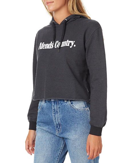 FADED BLACK WOMENS CLOTHING AFENDS JUMPERS - 55-01-010FBLK