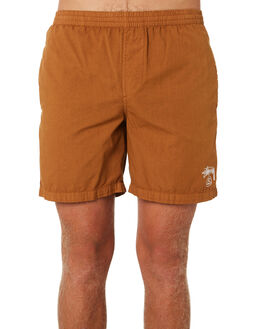 TAN MENS CLOTHING STUSSY BOARDSHORTS - ST091601TAN