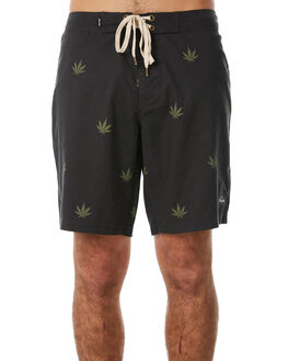 BLACK MENS CLOTHING AFENDS BOARDSHORTS - M183306BLK
