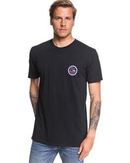 BLACK MENS CLOTHING QUIKSILVER TEES - EQYZT05349-KVJ0