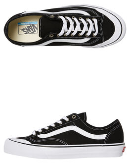 BLACK WHITE MENS FOOTWEAR VANS SNEAKERS - VNA3MVLY28BLK