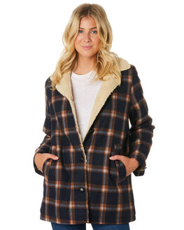 NAVY BROWN WOMENS CLOTHING ROLLAS JACKETS - 12968-4556