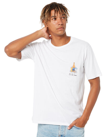 WHITE MENS CLOTHING BARNEY COOLS TEES - 116-0421WHT
