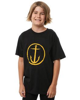 BLACK GOLD KIDS BOYS CAPTAIN FIN CO. TEES - BT172200BGD