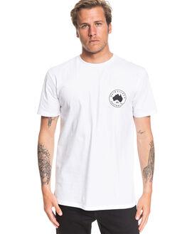 WHITE MENS CLOTHING QUIKSILVER TEES - EQYZT05691-WBB0