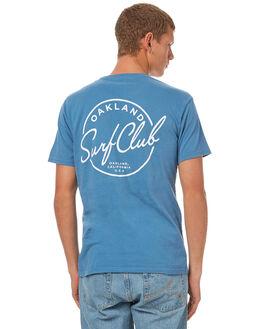 SEA BLUE MENS CLOTHING OAKLAND SURF CLUB TEES - F17-101-BLUSBLU