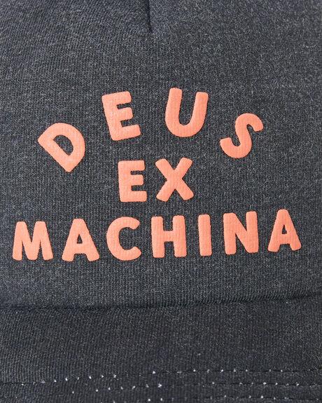 BLACK MENS ACCESSORIES DEUS EX MACHINA HEADWEAR - DMS97319BLK