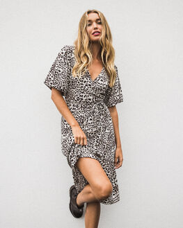GROWL LEOPARD WOMENS CLOTHING THE HIDDEN WAY DRESSES - H8203442GRWLP