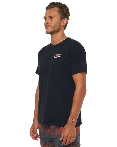 BLACK MENS CLOTHING AFENDS TEES - M181005BLK