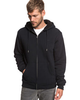 BLACK MENS CLOTHING QUIKSILVER JUMPERS - EQYFT03941-KVJ0