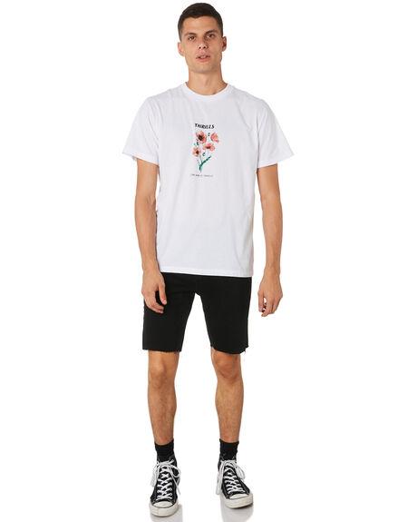 WHITE MENS CLOTHING THRILLS TEES - TH9-119AWHT