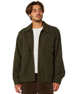 OLIVE MENS CLOTHING RHYTHM JACKETS - APR19M-JK04-OLI