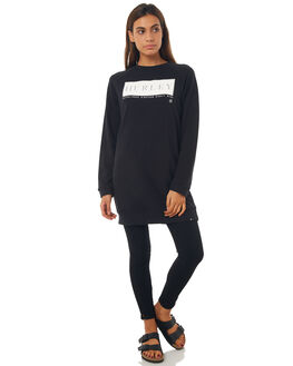BLACK WOMENS CLOTHING HURLEY DRESSES - AGDSRECT05A