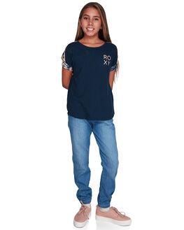 DRESS BLUES FLORAL KIDS GIRLS ROXY TOPS - ERGZT03409-BTK8