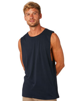 NAVY MENS CLOTHING AS COLOUR SINGLETS - 5025NAVY