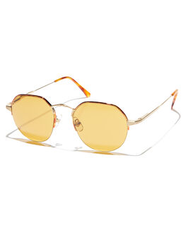 HAVANA GOLD WOMENS ACCESSORIES CRAP SUNGLASSES - 171WC82MTNHAVTR