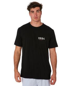 BLACK MENS CLOTHING RPM TEES - 9PMT04BBLK