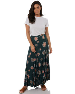 EMERALD GREEN WOMENS CLOTHING TIGERLILY SKIRTS - T383271EMER
