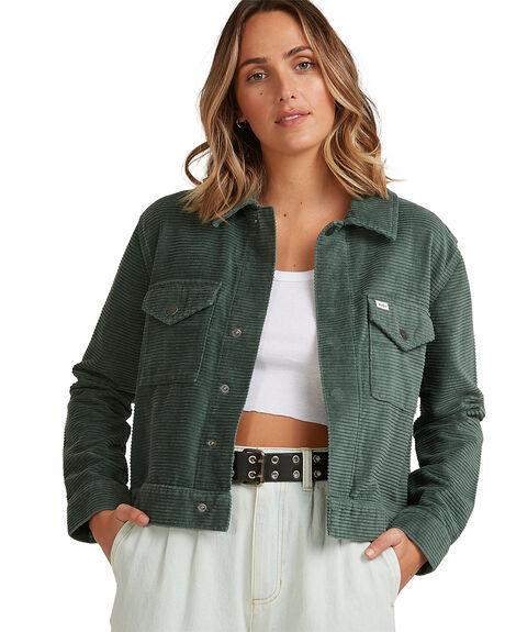 BALSAM GREEN WOMENS CLOTHING RVCA JACKETS - RV-R217434-8BG