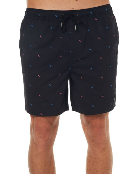 BLACK MENS CLOTHING RVCA BOARDSHORTS - R172412BLK
