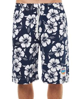NAVY MENS CLOTHING OKANUI BOARDSHORTS - BOHBNV