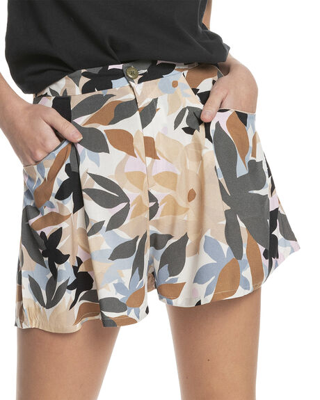 DRIFTER DARK SHADOW WOMENS CLOTHING QUIKSILVER SHORTS - EQWNS03039-KRP6
