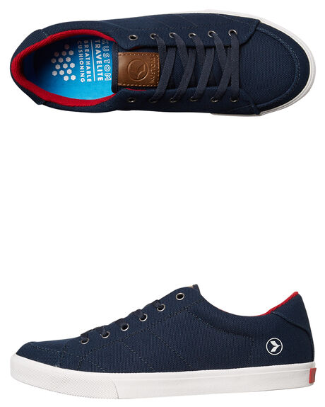 NAVY RED MENS FOOTWEAR KUSTOM SNEAKERS - 4981116ZNVRED