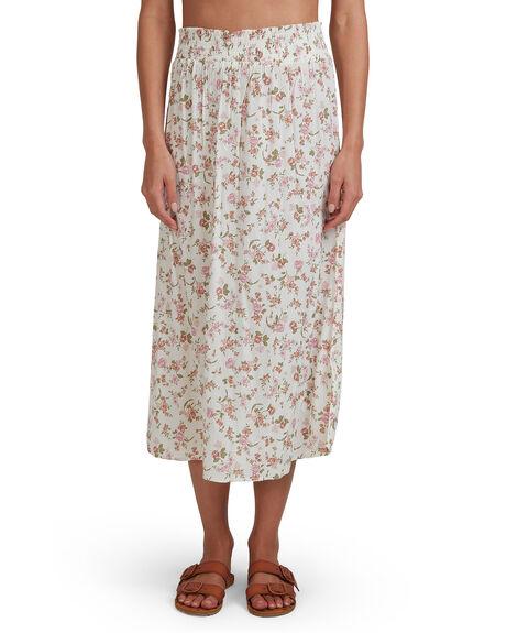WHITE WOMENS CLOTHING BILLABONG SKIRTS - BB-6517311-WHT