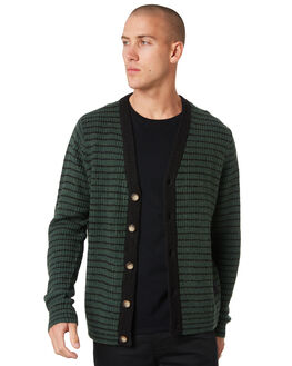 BLACK BOTTLE STRIPE MENS CLOTHING MISFIT KNITS + CARDIGANS - MT096302BLKBT
