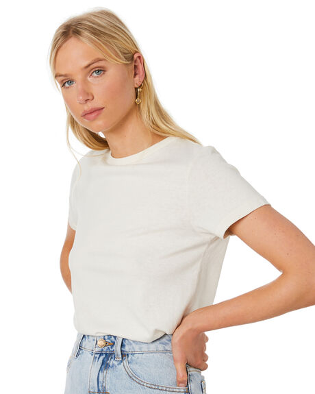 DIRTY WHITE OUTLET WOMENS THRILLS TEES - WTH20-104AADWHT