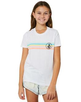 WHITE KIDS GIRLS VOLCOM TEES - B35218Y1WHT