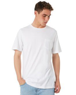 WHITE OUTLET MENS RVCA TEES - R181066WHT