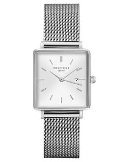 WHITE SUNRAY SILVER WOMENS ACCESSORIES ROSEFIELD WATCHES - QWSS-Q02WSMS