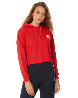 CHERRY RED WOMENS CLOTHING RVCA JUMPERS - R283168CHERR