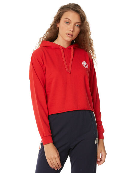 CHERRY RED OUTLET WOMENS RVCA JUMPERS - R283168CHERR