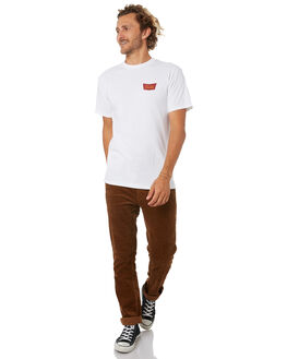 WHITE MAROON MENS CLOTHING BRIXTON TEES - 06560WHTMA