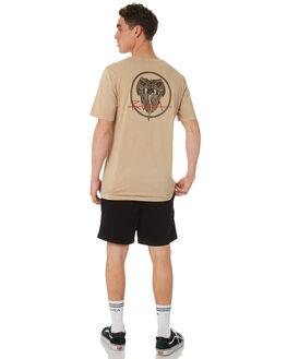 DUST YELLOW MENS CLOTHING RVCA TEES - R182096DTYEL