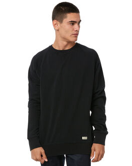 BLACK MENS CLOTHING ACADEMY BRAND JUMPERS - 18W517BLK