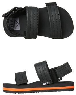 GREY ORANGE KIDS BOYS REEF FOOTWEAR - A3VD6GOR