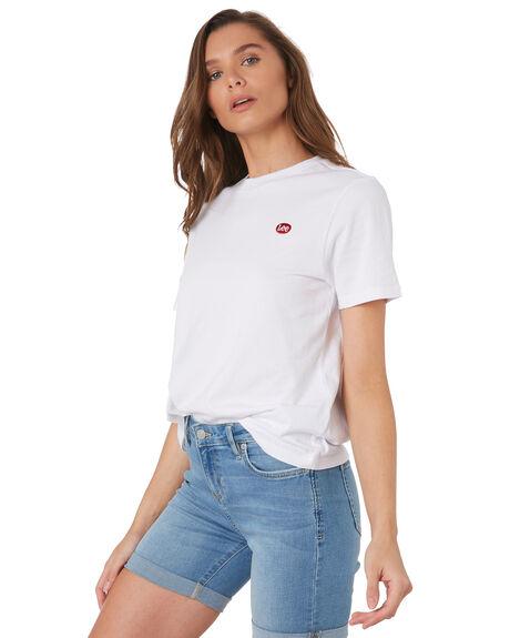 WHITE WOMENS CLOTHING LEE TEES - L-651879-060WHI