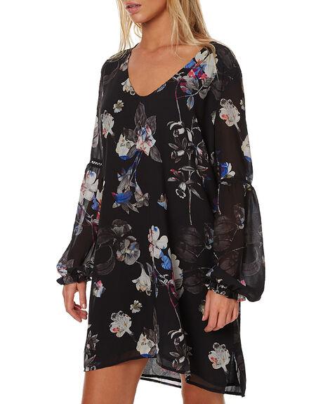 BLACK WOMENS CLOTHING RUSTY DRESSES - DRL0839BLK