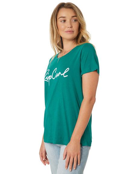 GREEN WOMENS CLOTHING RIP CURL TEES - GTEAQ20060